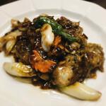 西遊記 - 牡蠣の豆豉ソース炒め
