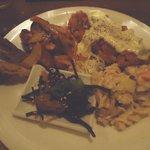 松南食堂 - MIX定食(チキン南蛮と鶏もも肉の韓国みそ野菜炒め)