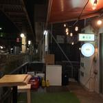 茶割 - 代官山駅ホームとの距離感! 厨房内まで丸見えの至近距離っ!