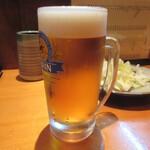 焼鳥いなかもん - 生ビール(中) 550円