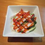 焼鳥いなかもん - イカの酢味噌和え(韓国風) 250円