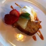 棕櫚  - デザートは「パンナコッタとバナナのケーキ」でしたっ♪