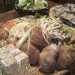 い草製麺所 - 新鮮な野菜たち。しいたけでっかい!