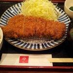 12502437 - ロースカツ定食1050円(ランチだと882円)