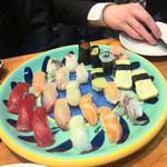 寿司 ゆずの花 - 寿司20貫(好きなネタを頼めます)飲み物1杯付き 1980円