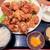 新潟地酒専門店 もんず - 鶏の唐揚げ定食(10個) 950円(3~10個=同一価格)