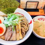 麦天 - 味玉つけ麺(麦芽麺) 750円+麺大盛 150円=900円
