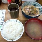 魚力 - さば味噌煮定食(カミ)1100円