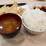 天ぷら北里 - ご飯と味噌汁