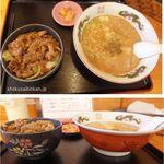 高針めんや - ランチa-トンコツ醤油豚丼セット。高針めんや(名古屋市)食彩品館.jp撮影