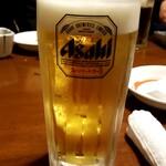 駒八 - 生ビール:550円