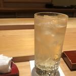 鮨 さかい - 山崎のハイボールで喉を洗浄