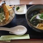 うどん市 - 市天丼セット 890円