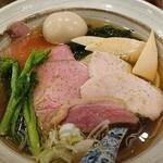 中華そば きなり - 料理写真:味玉肉増し山椒白醤油そば¥1,100