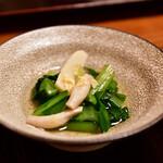 沙伽羅 - 【上天丼膳@1,890円】野菜小鉢。おひたし。