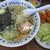 さすけ食堂 - 料理写真:かじめラーメン + アジ半フライ
