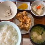 弁天の里 - 定食+唐揚げ