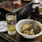かき焼き小屋 一 - ホッピーと牡蠣