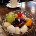 初音 - 白玉抹茶クリームあんみつ  1,100円