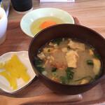 卵かけごはんのお店 とっとちゃん家 - ミソスープ