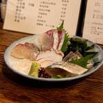 Nawanai - 刺盛(ヒラメ、カンパチ、タコ、シマアジ、サワラタタキ、〆サバ)