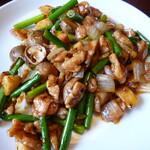 Sankyuuchuubou - 鶏肉の四川風黒豆炒め