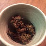 三城 - ちょっと作ってみたのと出された蕗味噌 一転して春の先取りです