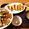 山奈食堂 - 料理写真:炙りチャーシュー丼と餃子