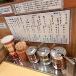 とりそば太田 - 調味料の使い方