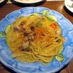 チロンボ・マリーナ - 牡蠣と白菜のオイルスパゲティ