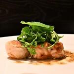 125089780 - 北海道産タラの白子と丹波産有機栽培の里芋のムニエル