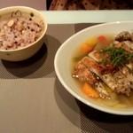 ちゃのま - 鶏肉スープと単品雑穀米