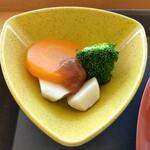さくらごはん - スチーム野菜の梅ソース
