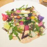 125092458 - 前菜2 スペシャリテの50種類の野菜のテリーヌ