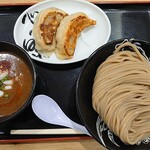 松戸富田麺桜 - 料理写真:甘エビ濃厚つけ麺1,000円心の味餃子(2個)300円