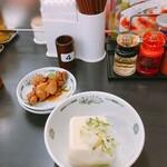 日高屋 - 料理写真:やきとりネギ和え/冷奴