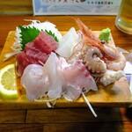 どんたく - 料理写真:地魚刺身盛り合わせ