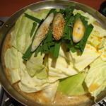 博多 もつ鍋 かみ坂 - もつ鍋 赤味噌味(二人前)