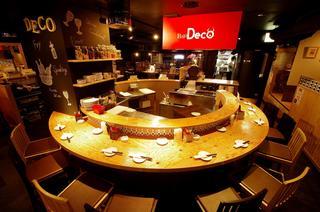 スペイン食堂 Deco2階 - ライブ感満載の人気のカウンター席。