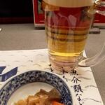 大衆割烹 ひかり - 料理写真:生ビール&お通し