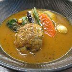 スープカレー lavi  - ハンバーグto野菜カレーのアップ