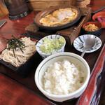 そば処ふでむら - 料理写真:ミニかつ丼セット 1/3