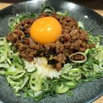 麺屋こころ - 肉ミンチ白飯