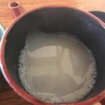 茅ヶ崎 そば処 榮家 - 蕎麦湯