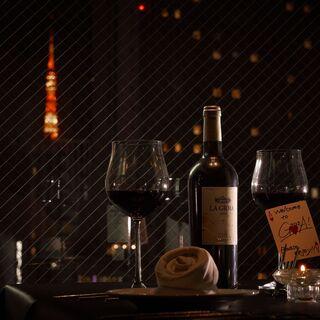 【一日一組限定】東京タワーの夜景を独占個室【VIPROOM】