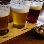 ハーベステラス - ドリンク写真:・ふじやまビール飲み比べセット 1,120円(税別)