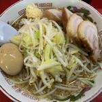 赤ひげラーメン - ラーメン+チャーシュー+味玉(ニンニクコール)