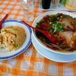 中華料理てんぐラーメン - こいくちラーメン&炒飯(小)