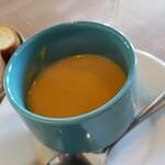 125140757 - カボチャのポタージュスープです。