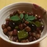船橋屋 こよみ - お抹茶の豆かんてん